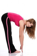 Woman doing fitness exerise