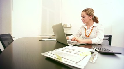 young woman at work - HD 1080