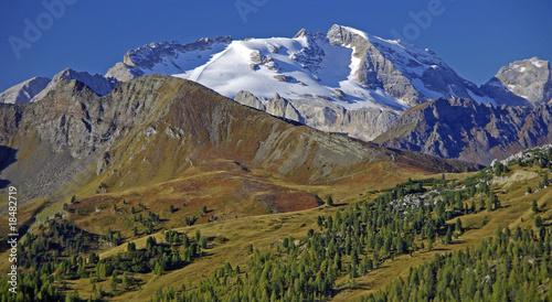 Leinwanddruck Bild Marmolada- der Gletscher der Südtiroler