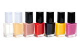 Colour varnish for nail exposed in row poster