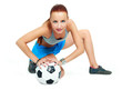 girl with a football ball