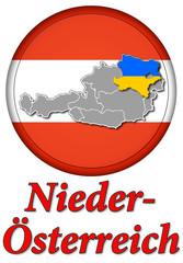 3D-Button Republik Österreich - Niederösterreich