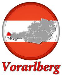 3D-Button Republik Österreich - Vorarlberg