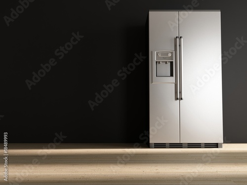 refrigerator to face a black wall