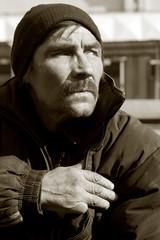Homeless man.