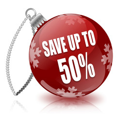 Save 50% bauble