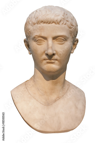 Marble bust of the roman emperor tiberius
