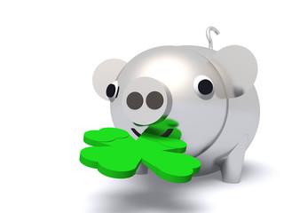 Glücksschwein aus Silber