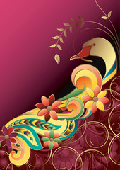Floral Abstract Bird