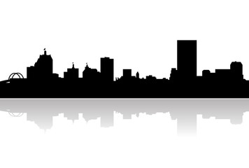 milwaukee skyline silhouette
