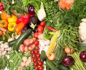 large vegetable composition background
