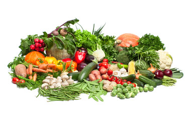 large group of vegetables