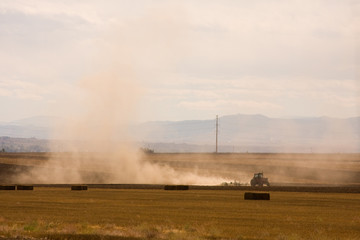 Agriculture dust trail