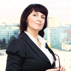 Portrait of the beautiful business woman