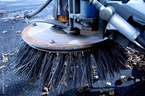 Leinwandbild Motiv kehrmaschine reinigung