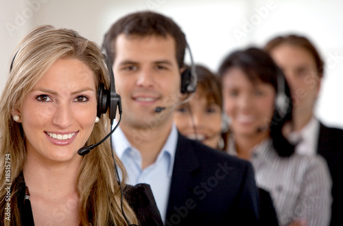 Business customer support team