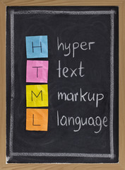 hyper text markup language - html