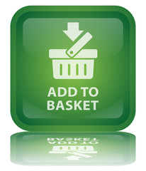 """ Add to Basket "" Button (square - shiny - vector - reflection)"