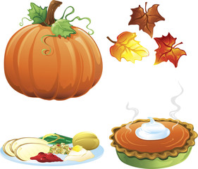 Autumn and fall icons