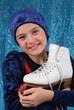 Junge Eiskunstläuferin