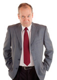 Serious Businessman with a Scowling Expression poster