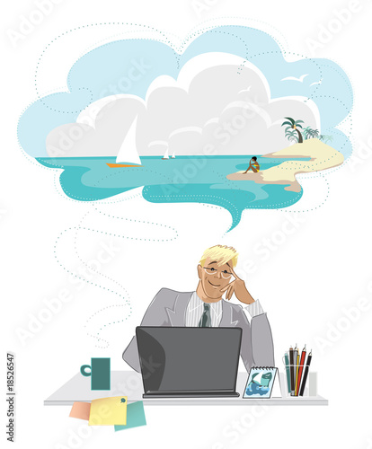 Dreaming businessman
