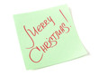 Merry Christmas handwritten message
