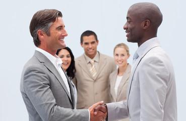 Handshake in business