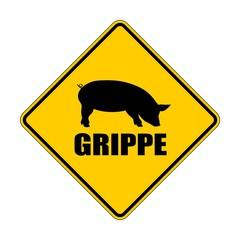 Schweine Grippe Warnschild