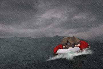 Maison dans la tempête