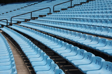 Large empty stadium seating