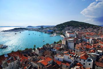 Croatia - Split Postcard of city and Marjan Hill