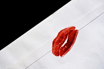 Kiss on letter