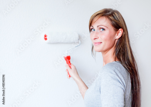 apartment wall paint woman