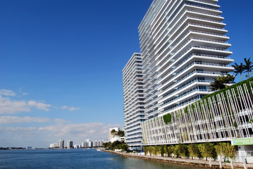 Miami Beach Condo Towers on Biscayne Bay