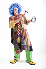 clown alarm clock and hammer