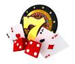 Casino Games 3D Illustration