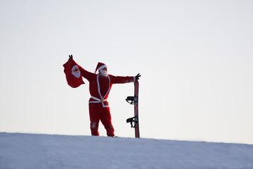 Santa Claus auf der Ski Piste