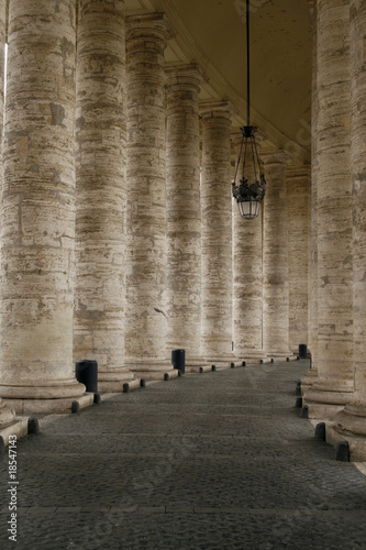 The Colonnade by St. Peter's Basilica, Vatican, Rome, Italy