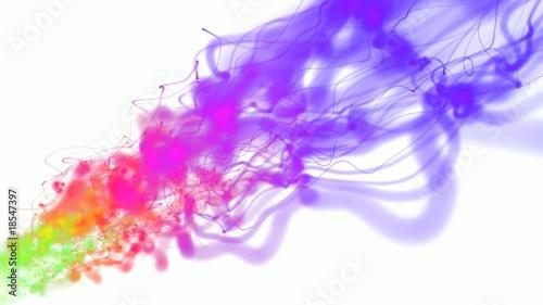 poster of color fluid 3d