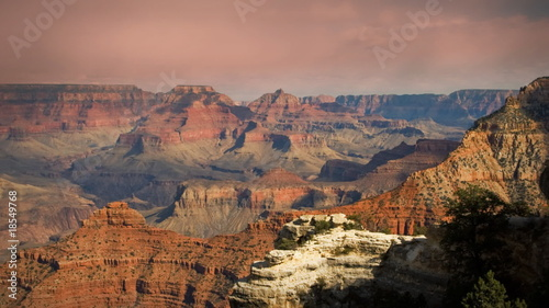 (1136) Grand Canyon Arizona Sunset Clouds Timelapse LOOP