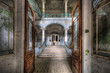 Leinwanddruck Bild - Old Hospital in Beelitz