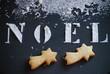sablés de Noël en forme d'étoiles