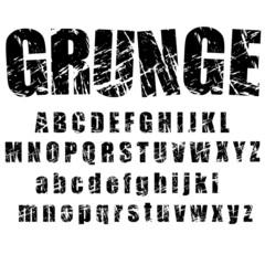 grunge alphabet - 1