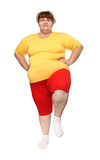exercising overweight woman poster