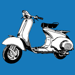 Motocycle scooter vector