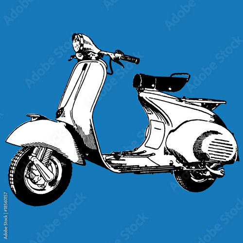 Motocycle scooter vector - 18560157