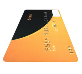 one business bank card isolated, savings wealth