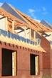 Dachstuhl Dachlatten Giebel Reihenhaus