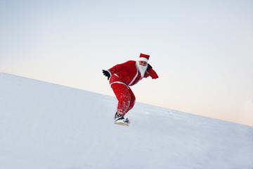 Weihnachtsmann und Wintersport